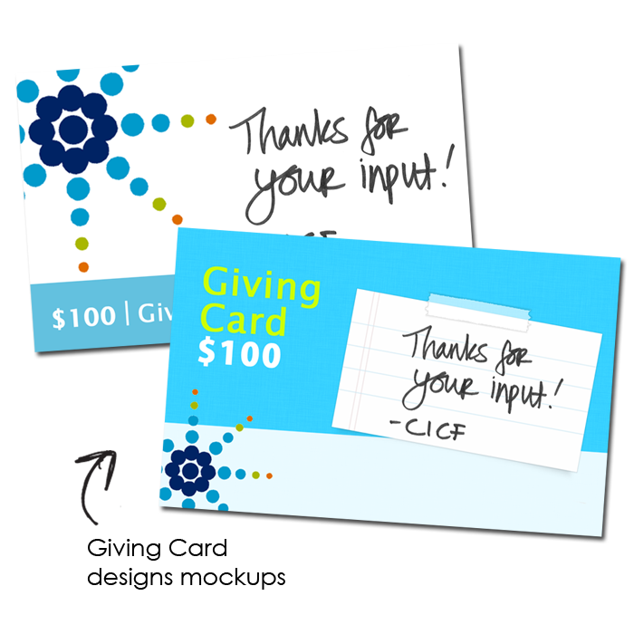 Direct Mail/Giving Card Design